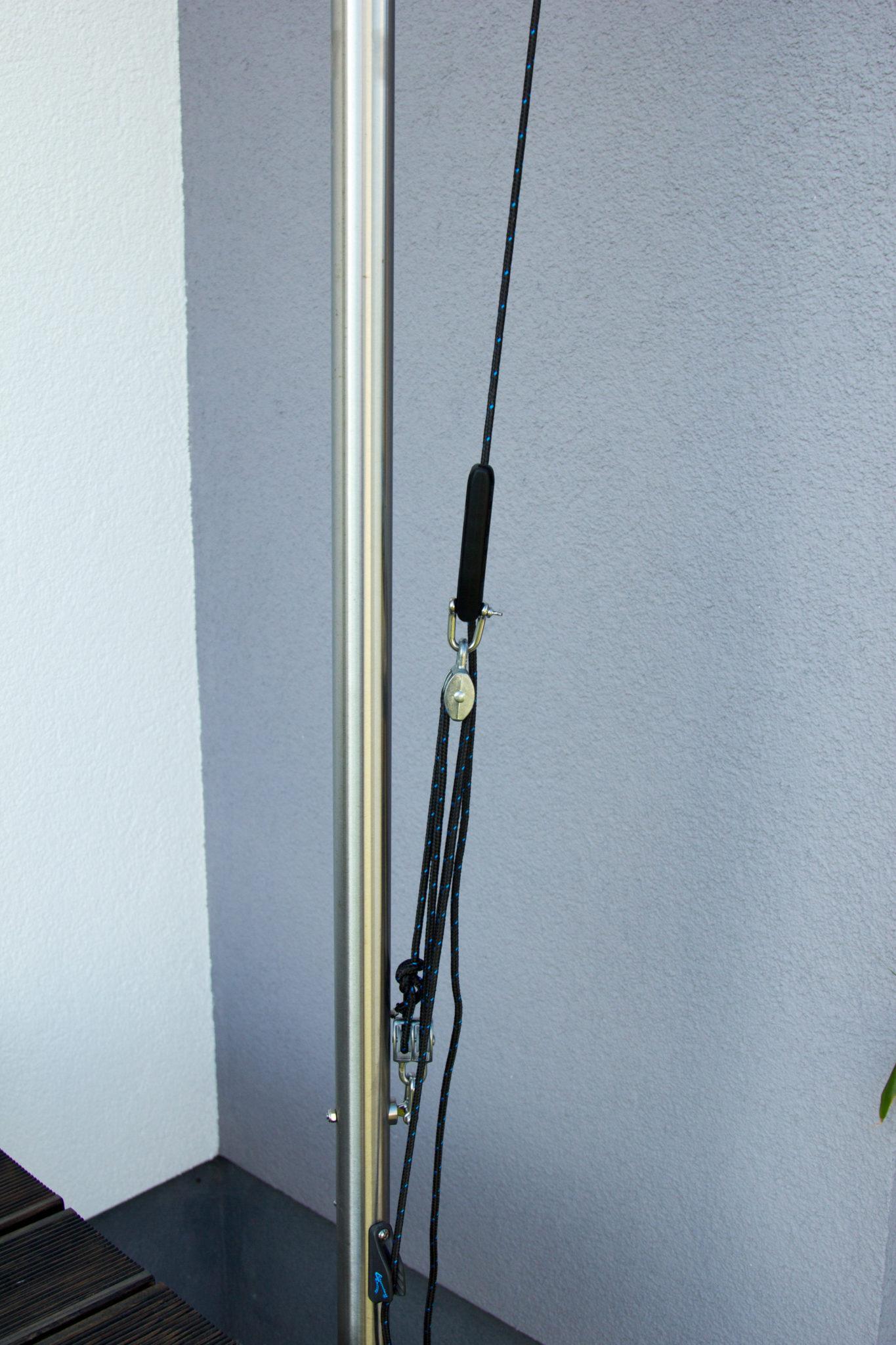 bauanleitung f r das einrollbare sonnensegel sonnensegel selber bauen. Black Bedroom Furniture Sets. Home Design Ideas