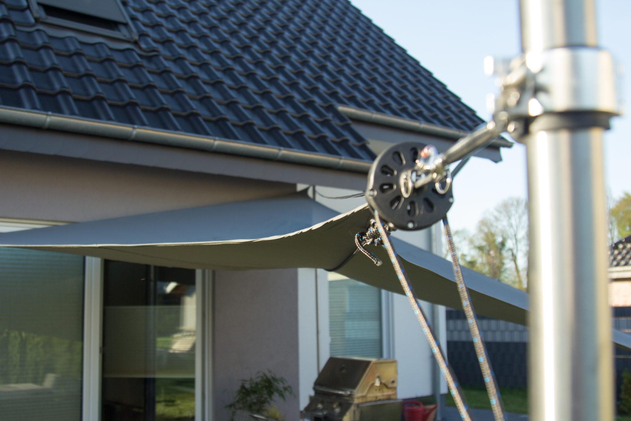 Bauanleitung Fur Das Einrollbare Sonnensegel Sonnensegel Selber