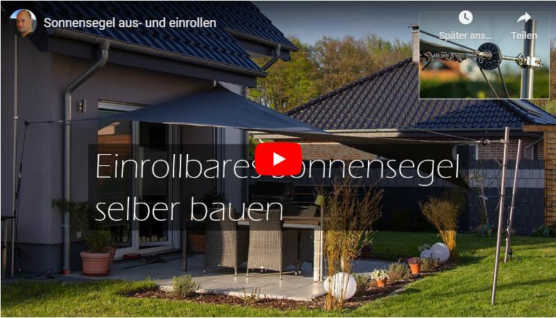 Video: Einrollbares Sonnensegel selber bauen